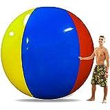 Happybuy Giant Beach Ball 6 ft / 8 ft Diameter Extra Large Inflatable Beach Ball Pool Toy Jumbo Beach Ball (8' Beach Ball)