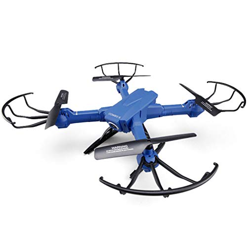 Drone 200W HD Camcorder FPV Drone Quadcopter Suspension Altitude Hold Headless Mode Function Birthday Present Blue