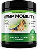 PetHonesty Hemp Hip & Joint Supplement for Dogs - Hemp Oil & Hemp Powder - Glucosamine Chondroitin for Dogs Turmeric, MSM, Green Lipped Mussel, Dog Treats Improve Mobility, Reduces Discomfort - Duck