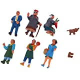 MagiDeal 6X Market Theme Painted Model Train People Figures HO for Layout or Diorama