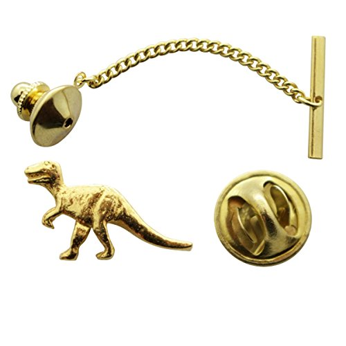 T Rex or Tyrannosaurus Tie Tack ~ 24K Gold ~ Tie Tack or Pin ~ Sarah's Treats & Treasures by Sarah's Treats & Treasures
