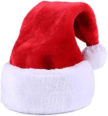 Juego de 2 sierra de gorro navideño nikolausmütze Santa Xmas rojo 5 estrellas adultos