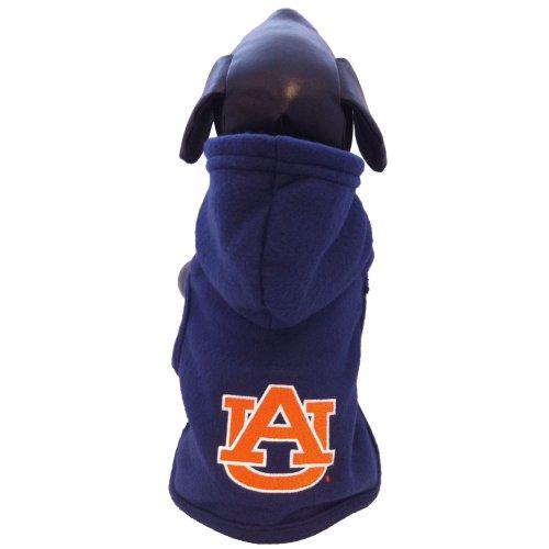 NCAA Auburn Tigers Polar Fleece Hooded Dog Jacket, Small