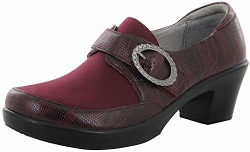 Alegria Womens Holli Casual Heel Spiffy Merlot Size 38 EU (8-8.5 M US Women)