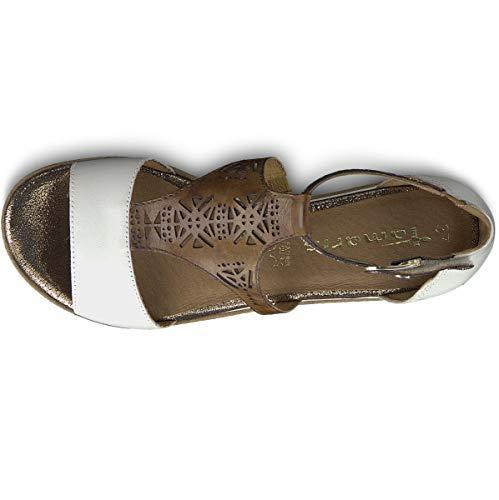 Con Zeppa 22 1 Sandali platform scarpe Zeppa Di 28228 1 it Tamaris Estate piatta confortevole White con Comb touch Donna piattaforma sandali 4vxqYW5