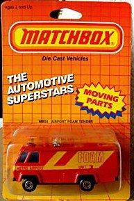 1987 Matchbox MB54 METRO AIRPORT FOAM TENDER Automotive Superstars Series with MOVING PARTS (1:64 Diecast) ()