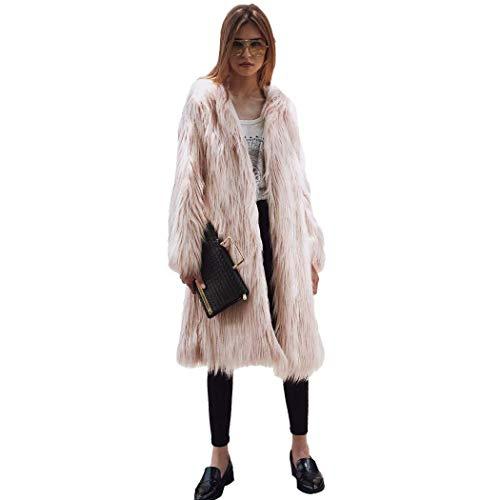 Retro Hipster Larga De Invierno Abrigos Colores Largos Moda Chaqueta Espesar Otoño Cardigan Termica Cazadoras Piel Polares Rosa Sintética Mujer Sólidos Manga Elegantes fAanPwqvg