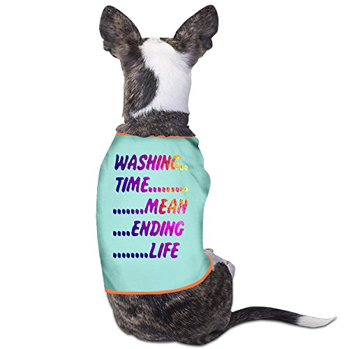 Personalize Pet Custume Washing Time For Dog Cat 100% Polyester]()