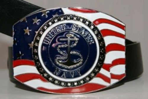 - ALBATROS United States Navy Anchor Crest Seal Belt Buckle for Home and Parades, Official Party, All Weather Indoors Outdoors