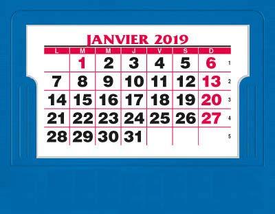 EXACOMPTA - 1 Calendrier Mensuel Chevalet - Année 2019-3 Coloris aléatoires - 13,5x10,5 cm ABL 33601E