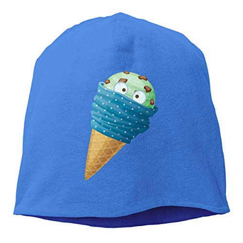 Man Skull Cap Beanie Ice Cream Headwear Knit Hat Warm Hip-hop Hat