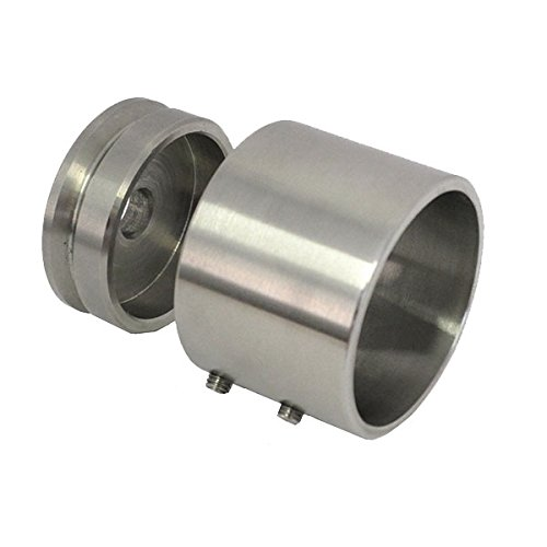 FIXATION FRONTALE COULISSANT POUR TUBE INOX AISI 304