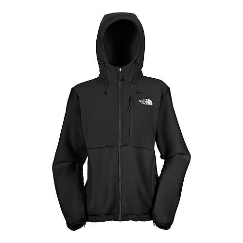 North Face Womens Denali Hoodie Jacket Black Size Small