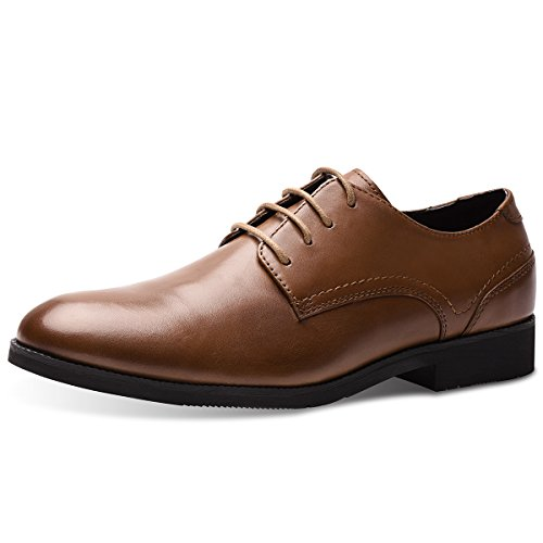 Men's Leather Lined Lace-up Plai...