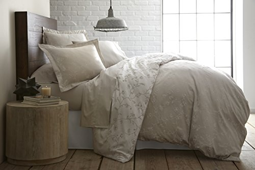 Southshore Fine Linens - BRITEYARN - Sweetbrier Print - 300 TC 100% Cotton Duvet Cover Set, Set, Warm Sand, Twin / Twin XL