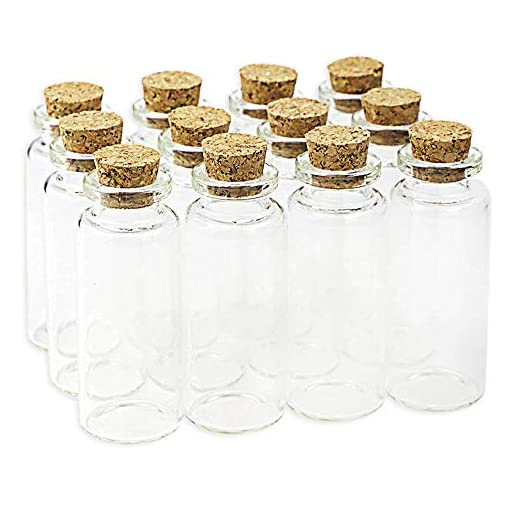 20pcs Small Glass Vial Pendant Bottle With CORK TOP METAL HOOP for pendants