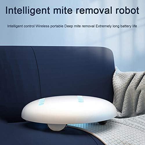 WFIZNB Mite Removal Machine Intelligente, UV sans Fil stérilisation Automatique Ultraviolet Portable Nettoyage Petit Robot Convient pour Hôtel Famille Etc