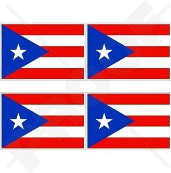 Puerto rico flag puerto rican 2 50mm vinyl bumper helmet stickers