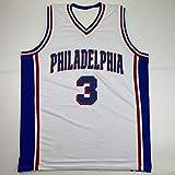 Autographed/Signed Allen Iverson Philadelphia White Current Basketball Jersey PSA/DNA COA