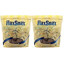 Manna Pro FlaxSnax Flax Enriched Horse Treats, 3.2 Pounds (Pack of 2)