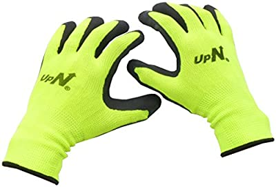 Palm Dipped Coated Work Gloves - 13 Gauge Polyester Glove Shell with Latex Foam Coating