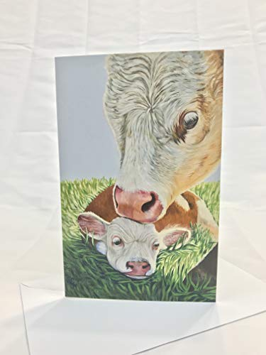 (A Mothers Love Cow Card)