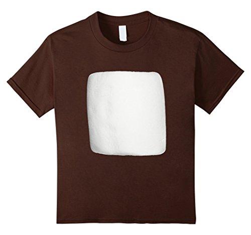 Kids Marshmallow Smores Halloween Costume Shirt 4 Brown
