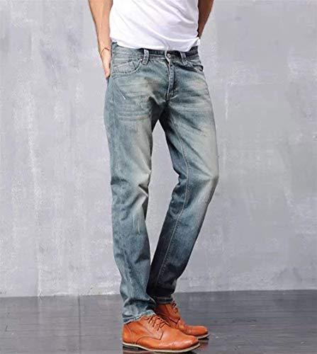 Denim Moto Skinny Stretch A Da Casual Gamba Lichtblau Fit Dritta Vintage Jeans Pantaloni Slim Uomo xz7ZOwOAq