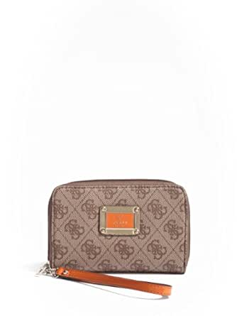 GUESS Reama Phone Wristlet in Orange