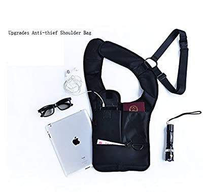 Jhua Anti-thief Hidden Security Bag Underarm Shoulder Armpit Bag Holster Portable Backpack for Phone/ Money/ Passport Tactical Bag Multi-purpose Concealed Pack for Travel/ Outdoors