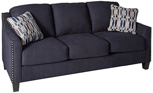 (Benchcraft - Creeal Heights Contemporary Sofa Sleeper - Queen Size Mattress Included - Ink)