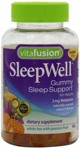 Vitafusion Sleep Well Gummy soutien sommeil, 60 Count (pack de 2)