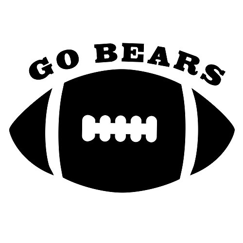 Xstamper Rubber Stamp - Go Bears Horizontal Football Oval X-Stamper