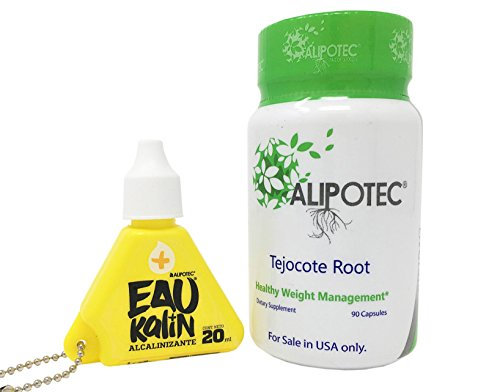 Amazon.com: Alipotec Capsules Tejocote Root Supplement Capsulas Alipotec Raiz de Tejocote 90 Day Supply and Eau Kalin Alkaline Water - 2 Product Pack: ...