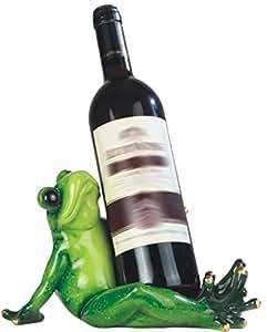 StealStreet SS-G-54352 10-Inch Green Frog Sitting Wine Holder
