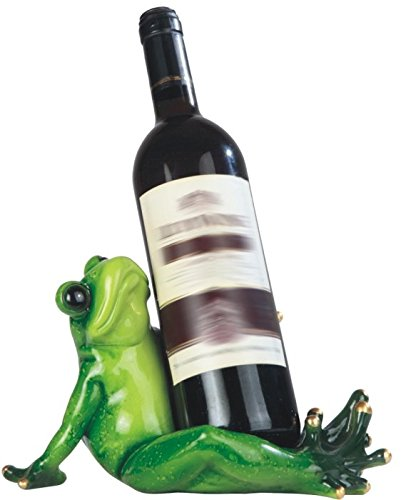 Frog Wine Bottle (George S. Chen Imports SS-G-54352 Green Frog Sitting Wine Holder, 10