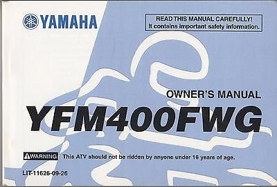 1995 YAMAHA ATV YFM400FWG LIT-11626-09-26 OWNERS MANUAL (518)