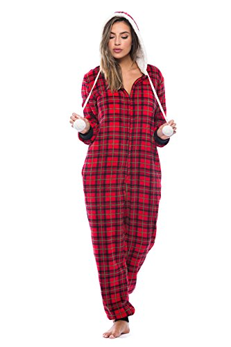 6342-10221-M Just Love Adult Onesie / Pajamas,Holiday Plaid Print,Medium]()