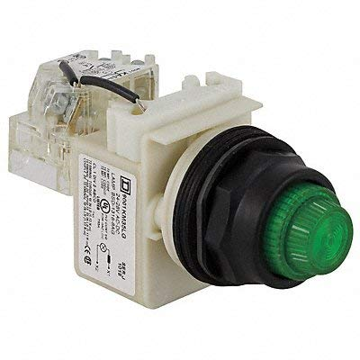 Schneider Electric H4513 Push to Test Pilot Light Green LED