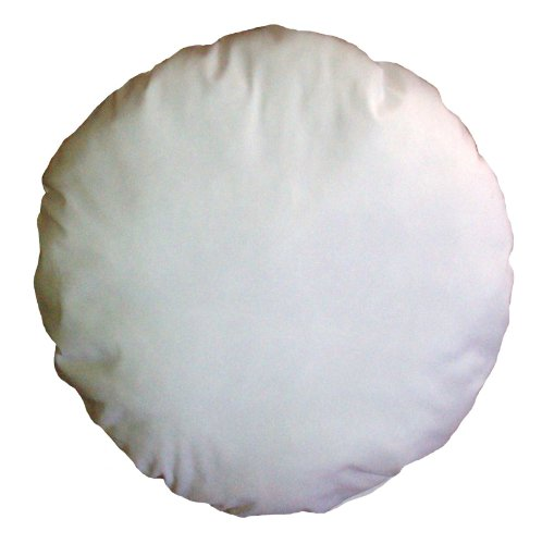 36 Inch Diameter Round White Cotton-Blend Throw Pillow Inser