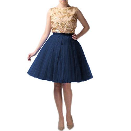 9535ee7c34a65 Marine Jupe Couturebridal® Tutu Bleu 5 Princesse 55cm Tulle Elastic  Ceinture Femme Couches Pawaxrq5R