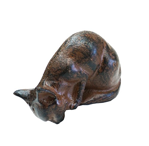 NACH XH-9593 Decorative Cast Iron Cat, Antique ()