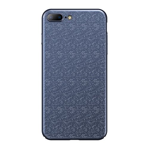Baseus Plaid Case For iPhone 7 Plus Luxury Thin Hard PC Back Cover For iPhone7 7Plus Plastic Case For Apple iPhone 7 Plus (Blue)