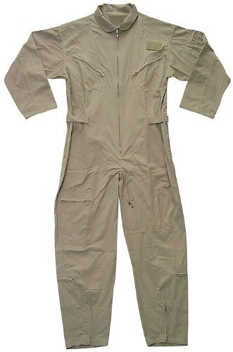 US Air Force Style Military Camouflage Flight Suit Coveralls (Khaki, Small) ()
