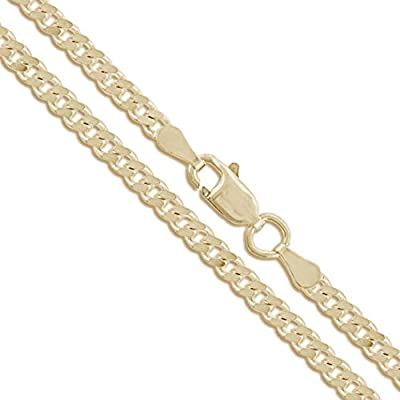 14k Yellow Gold Curb Chain CHOOSE YOUR WIDTH Link Necklace by Sac Silver