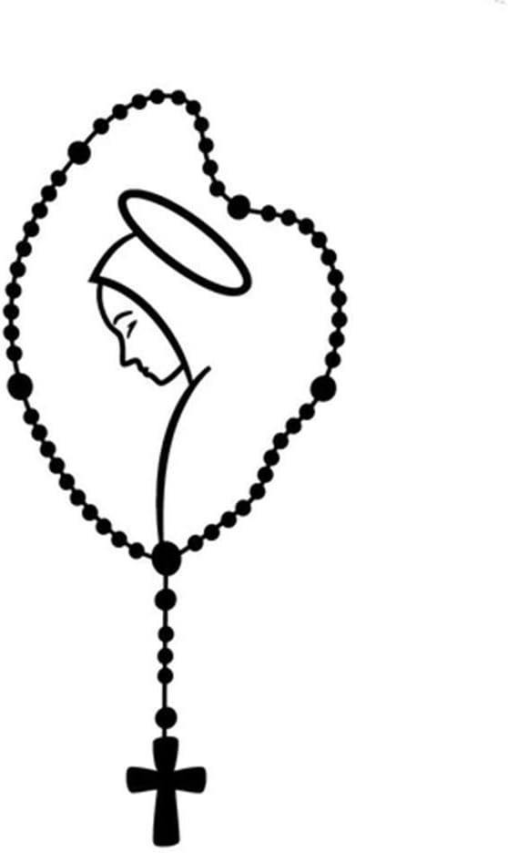 turkeybaby Etiqueta Engomada del Coche Calcoman/ías Decorativas De La Ventana del Parachoques del Cuerpo del Maletero del Autom/óvil Compacto del Rosario De Mary