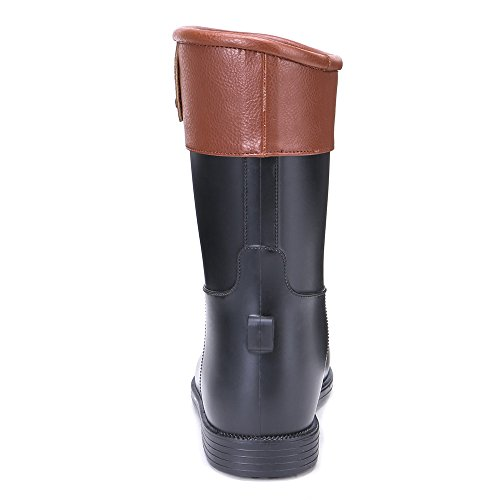Patchwork Womens Garden Footwears Boots Black Waterproof Student TONGPU Rain 5dgwxqX5