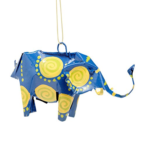 Ten Thousand Villages Recycled Material Elephant Ornament 'Safari Can-imal Elephant Ornament'