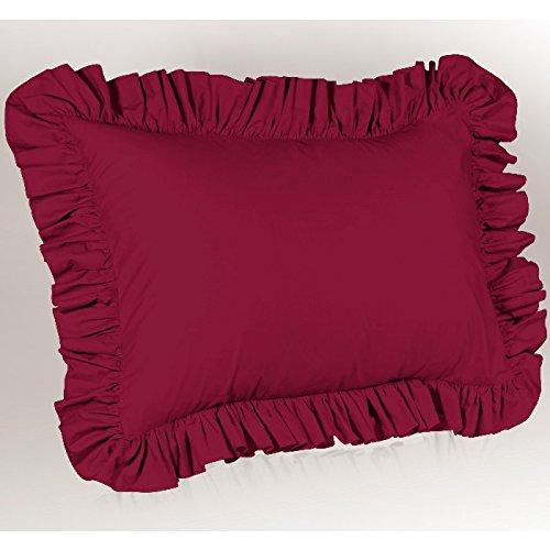 Shop Bedding Harmony Lane Ruffled Euro Pillow Sham, Raspberry (Sham European Ruffled)