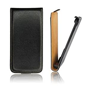 Funda PIEL leather cuero para LG Optimus L9 P760 negra